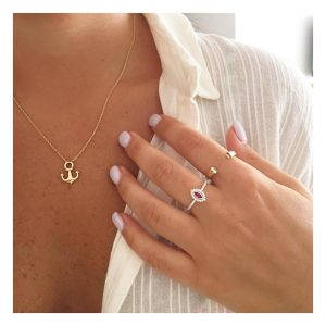 טבעת ג'וזפין רובי- זהב צהוב 14K