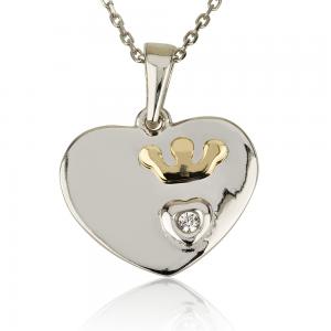 שרשרת Tiny Heart קראון - 14K