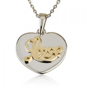 שרשרת Tiny Heart Love - זהב 14K