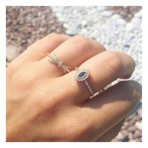 טבעת ג'וזפין רויאל- זהב לבן 14K