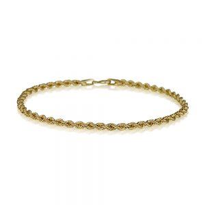 צמיד קשר עתיק- זהב צהוב 14K