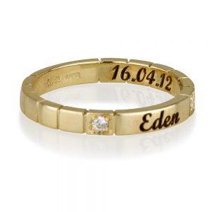 תוספת חריטת תאריך לטבעות חריטה