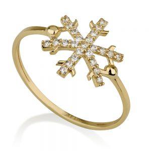 טבעת פרוסטי- זהב צהוב 14K