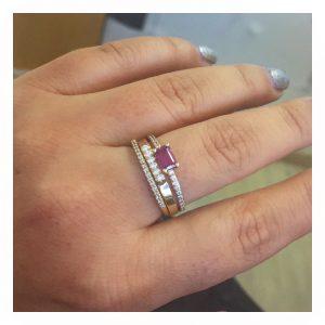 טבעת טורמלין טבעית- זהב צהוב
