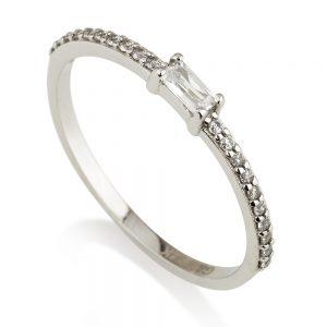 טבעת הוליווד פרינס - זהב לבן 14K