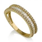 טבעות זהב מעוצבות -טבעת פריז