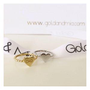 טבעת לב חותם אינפינטי - זהב 14K