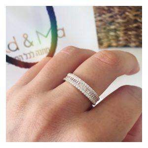 טבעת פריז - זהב צהוב 14K