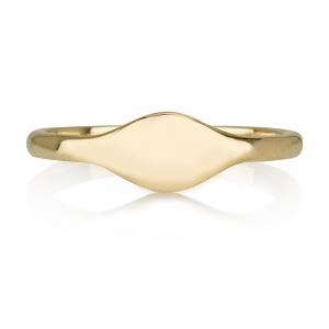 טבעת חותם וינטג' -  זהב 14K