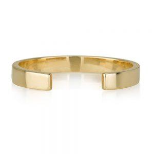 טבעת חצי - זהב 14K