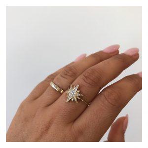טבעת פולריס - זהב צהוב 14K