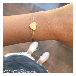 צמיד ויולט הארט - זהב צהוב 14K