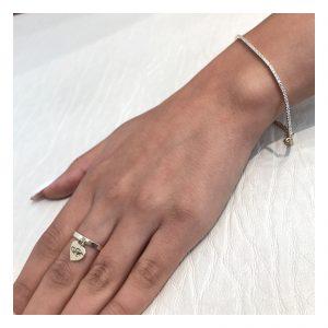 טבעת ספיישל הארט לחריטה - זהב 14K
