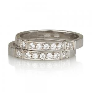 """טבעת """"Seven"""" זירקונים - זהב 14K"""