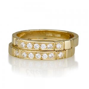 """טבעת """"Seven"""" יהלומים - זהב 14K"""