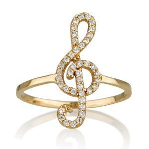 טבעת סול  - זהב צהוב 14K