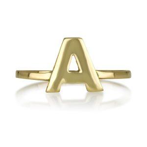 טבעת MY gold letter - זהב 14K