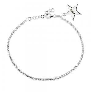 צמיד Diamond Cut בתוספת תליון סטאר – זהב 14K