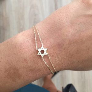צמיד דיוויד סטאר Wash - זהב צהוב 14K