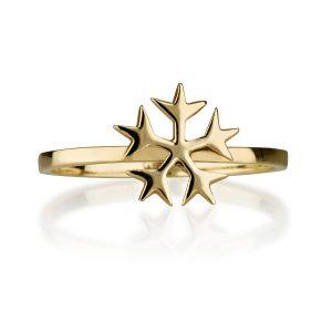 טבעת Snow - זהב צהוב 14K