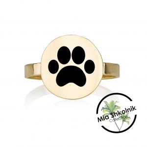 Puppy Ring - 14K