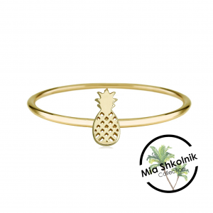 Tiny pineapple Ring – 14K
