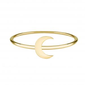 טבעת Half Moon - זהב 14K