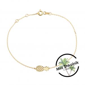 Tiny pineapple Bracelet – 14K