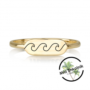 Mia's Wave ring - 14K