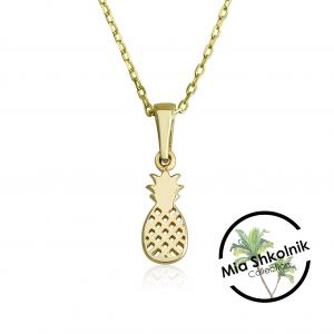 Tiny pineapple Necklace - 14K