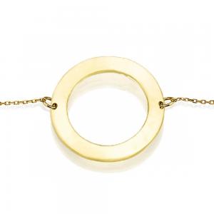 צמיד חריטה מעגל החיים - זהב 14K