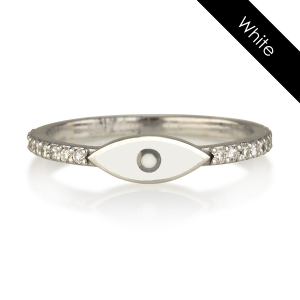 טבעת עין - זהב 14K