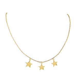 שרשרת כוכבים - זהב 14K