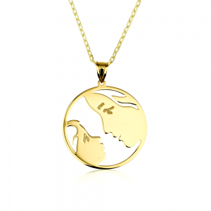 שרשרת אהבה של אמא S - זהב צהוב 14K