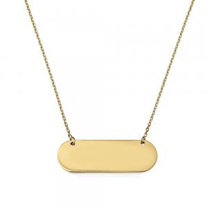 שרשרת מלבנית - זהב 14K