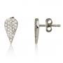 עגילי יהלומים-עגילי טיפה-עגילים צמודים