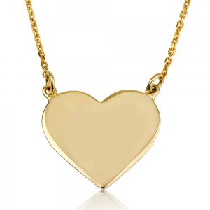 שרשרת Heart לחריטה - זהב 14K