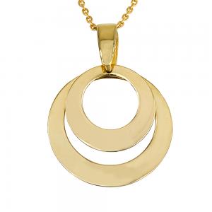 שרשרת חישוקי מטבעות דאבל - זהב 14K
