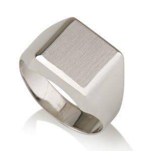 טבעת חריטה ריבוע לגבר - זהב 14K