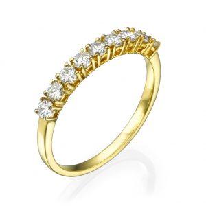 טבעת יהלומים Strong Bow - זהב 14K
