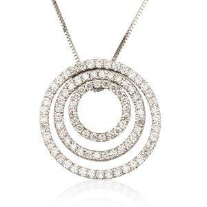שרשרת יהלומים מעגלי החיים - זהב 14K