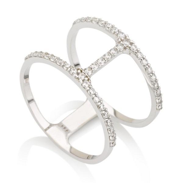 טבעת פרפקשן- זהב לבן 14K