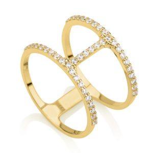 טבעת פרפקשן- זהב צהוב 14K