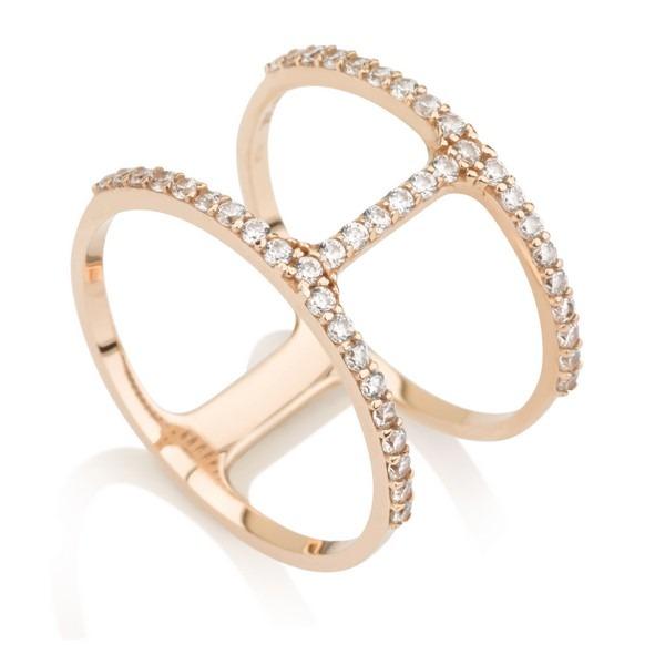 טבעת פרפקשן- זהב ורוד 14K - תכשיטי זהב מעוצבים - תכשיטי זהב משובצים - טבעות זהב - טבעות זהב משובצות
