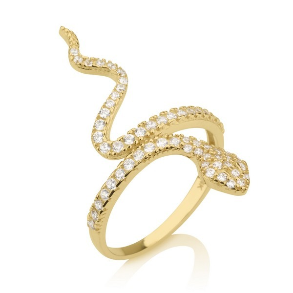 טבעת קוברה- זהב צהוב 14K