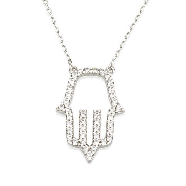 שרשרת חמסה Luck יהלומים- זהב 14K