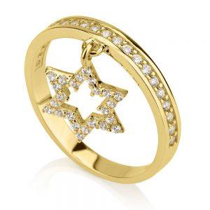 טבעת David Star - זהב צהוב 14K