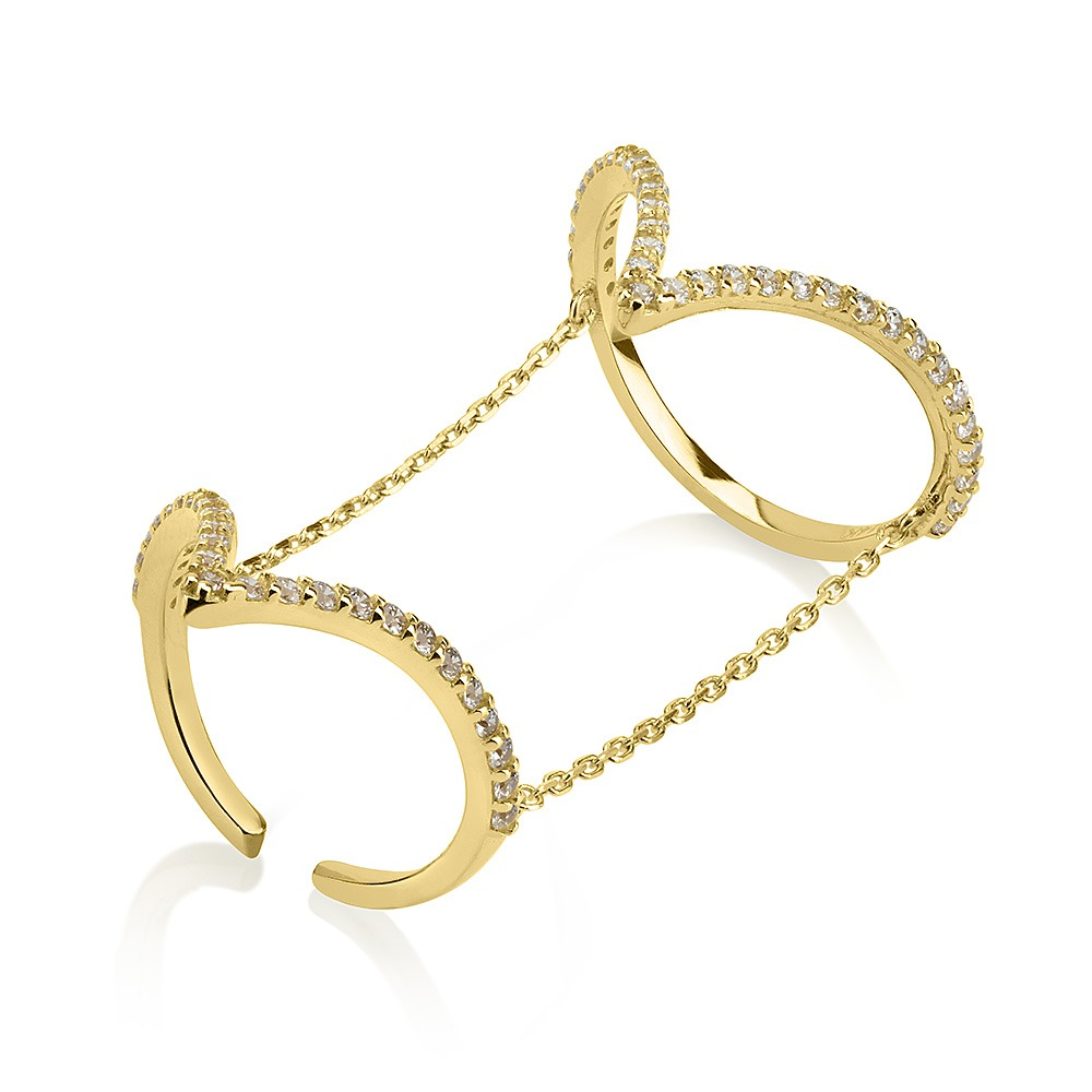 טבעת אריזונה - זהב צהוב 14K