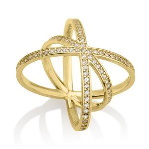 טבעת אינגלנד - זהב צהוב 14K