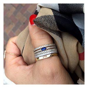 טבעת הוליווד רויאל - זהב ורוד 14K